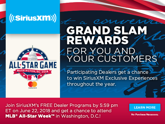 Rewarding Experiences for you and your customers. Join our FREE Dealer Programs by 5:59 PM ET on June 22nd, 2018 and get a chance to attend MLB<sup>&reg;</sup> All-Star Week<sup>&trade;</sup> in Washington, D.C.!